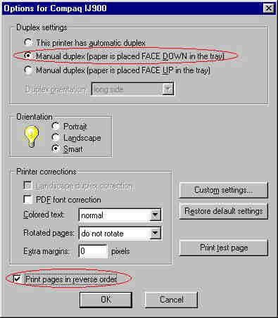 Gnome manual duplex virtual printer